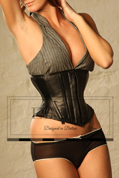 Super Strong Leather Corset Underbust Back Lacing Waspie