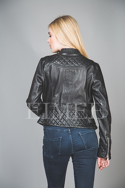 Ladies Leather Jacket Box CHISSA back