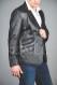 Men's Soft Leather Blazer SERJEY side view