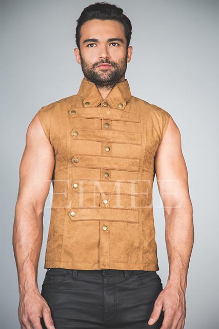 Mens Steampunk Military Waistcoat Vest SANDRO