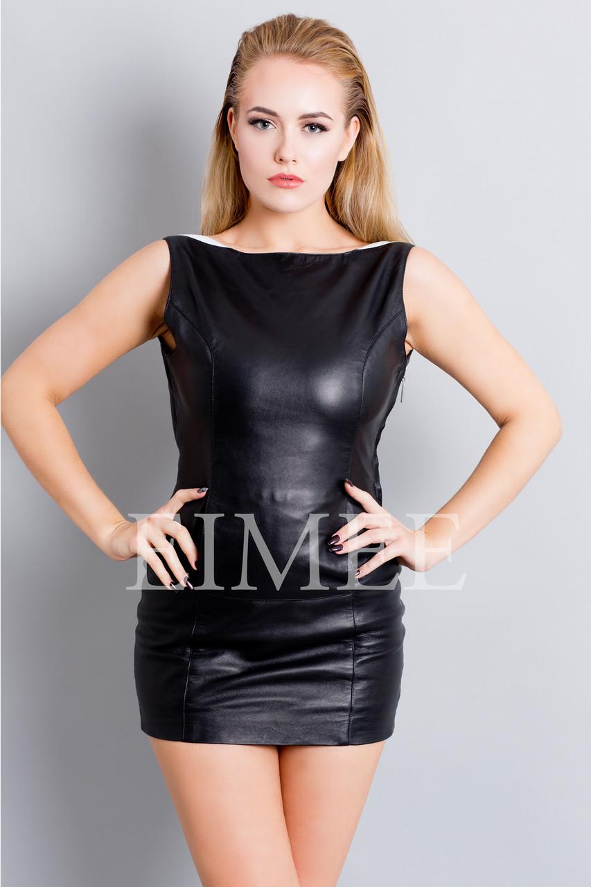 Leather Sleeveless Dress