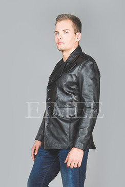 Leather Jacket Gents Top EDWARD side zoom