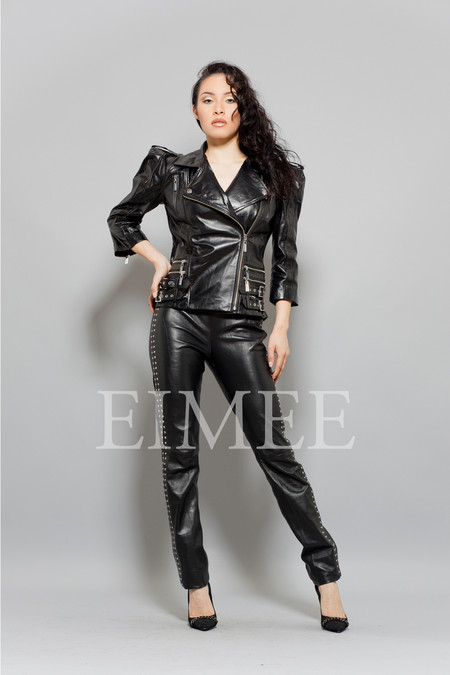 Ladies Leather Jacket LISTA front
