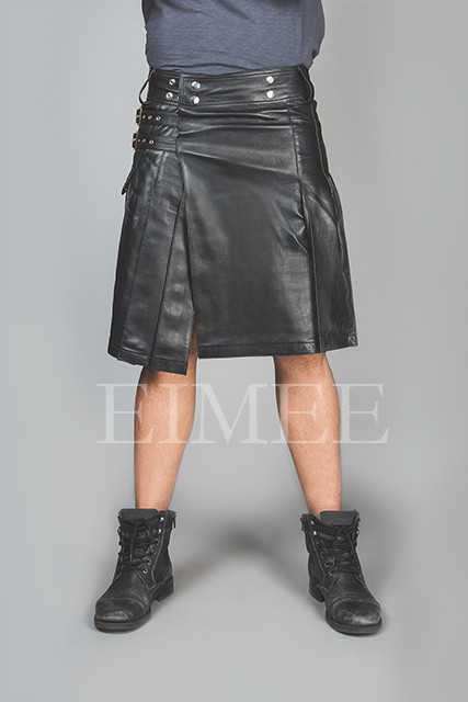 Mens Leather Kilt 1