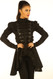 Black Cotton Gothic Steampunk Ladies Top Jacket image 2