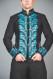 Mens Wedding Tailcoat Morning Dress Top Blue KENTZ