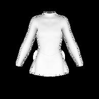 A-line inset skirt pattern, ice skate dress, roller skate dress, dance costume, rhythmic gymnastics costume, lycra sewing pattern, skatewear design system
