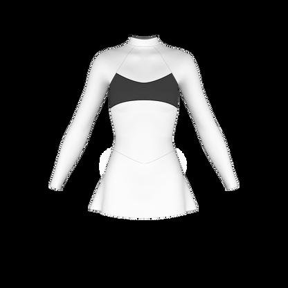 A-line inset skirt pattern, ice skate dress pattern, roller skate dress pattern, dance costume pattern, rhythmic gymnastics costume, lycra sewing pattern, skatewear design system