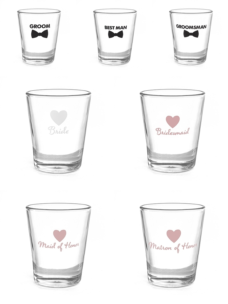 Bridal Party Shot Glass Gift