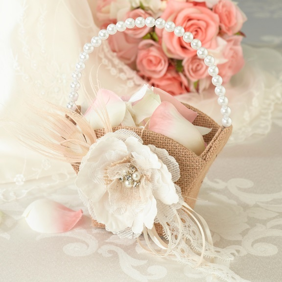Country Flower Girl Basket
