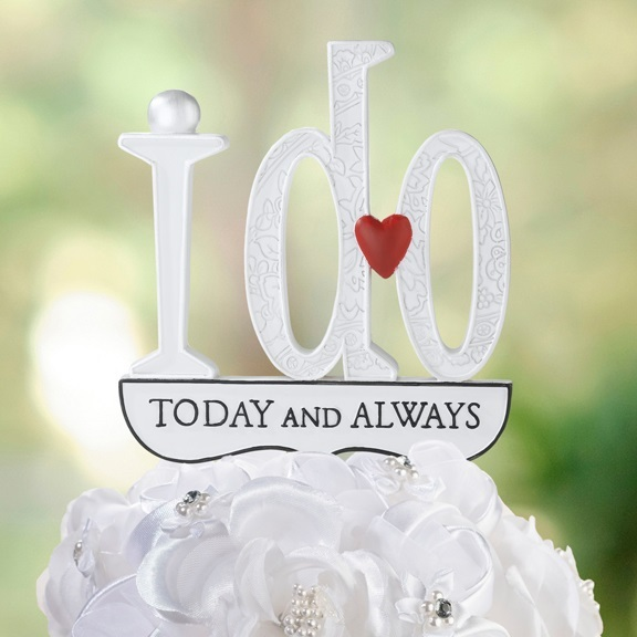 I Do cake topper decoration