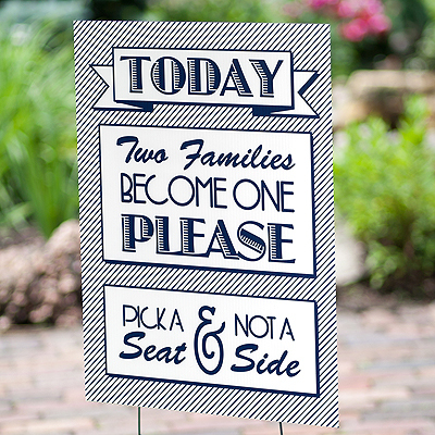Two Families Wedding Sign