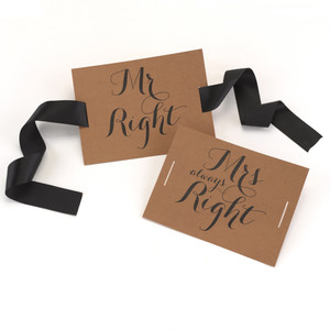 Mr Right and Mrs Always Right Wedding Reception Chair Sign Decorations