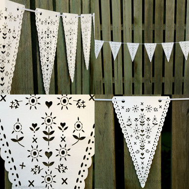 Wedding Bunting Banner Hanging Decoration Laser Cut