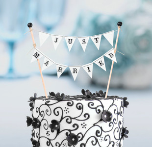 Wedding Just Married Cake Bunting Reception Decorations