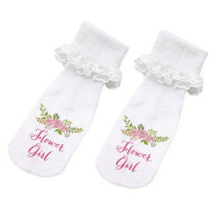Flower Girl Wedding Socks Bridal Party Accessory