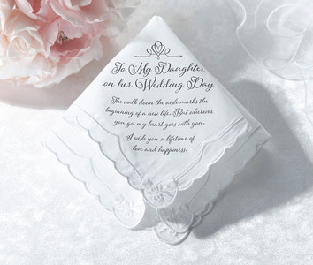 For My Daughter on Her Wedding Handkerchief Gift