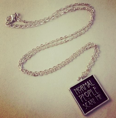Normal People Scare Me - Tate Langdon AHS Inspired Necklace