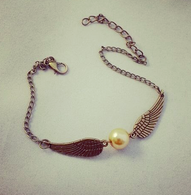 Harry Potter Golden Snitch Inspired Bracelet