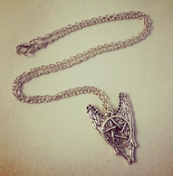 Supernatural Pentacle Angel Wings Inspired Pendant