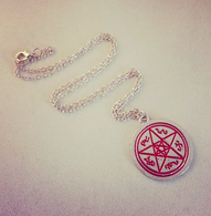 Supernatural Inspired Devils Trap Pendant - Cobalt Heights
