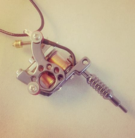 Tattoo Gun Pendant Necklace - Cobalt Heights