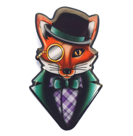 Jubly Umph Felix The Dapper Fox Brooch