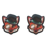 Jubly Umph Felix The Dapper Fox Studs - Cobalt Heights