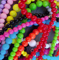 Gumball Bead Necklace 10 Colours Available - Cobalt Heights