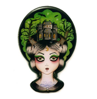 Jubly Umph Lila The Haunted House Lady Brooch - Cobalt Heights