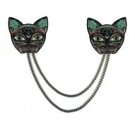 Jubly Umph Luna Black Kitty Cardigan Clips - Cobalt Heights