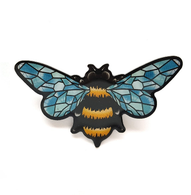Jubly Umph Queen Bee Brooch - Cobalt Heights