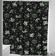 Sourpuss Monster Mosh Shower Curtain - Cobalt Heights