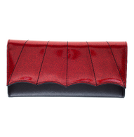 Sourpuss Bat Wing Wallet -  Red - Cobalt Heights