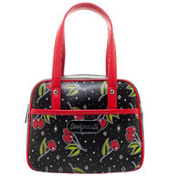 Sourpuss Love Cherries Mini Bowler - Cobalt Heights