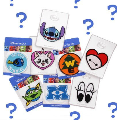 Loungefly X Disney & Pixar Patches - Random Pack Of 3 - Cobalt Heights