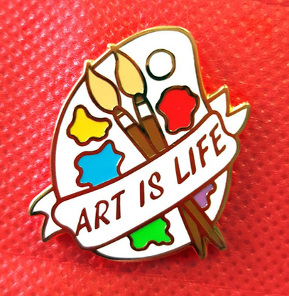 Jubly Umph Art Is Life Lapel Pin - Cobalt Heights