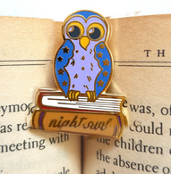 Jubly Umph Night Owl Lapel Pin - Cobalt Heights