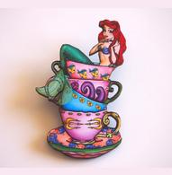 Hungry Designs Teacup Ariel Brooch - Cobalt Heights