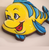 Hungry Designs Flounder Brooch - Close Up - Cobalt Heights