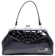 Sourpuss Spiderweb Backseat Baby Purse - Grey - Cobalt Heights