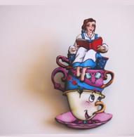 Hungry Designs Teacup Belle Brooch - Cobalt Heights