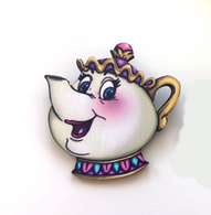 Hungry Designs Mrs Potts Brooch - Cobalt Heights