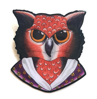 Jubly Umph Louisa May Owlcott Brooch - Cobalt Heightd
