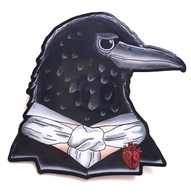 Jubly Umph Edgar Allan Crow Brooch - Cobalt Heights