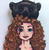 Hungry Designs Hunted Merida Brooch - Close Up - Cobalt Heights