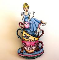 Hungry Designs Teacup Cinderella Brooch - Cobalt Heights
