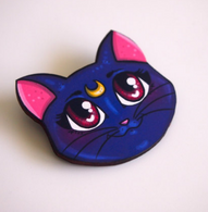 Hungry Designs Luna Brooch - Cobalt Heights