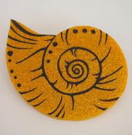 Hungry Designs Vanessa Shell Brooch - Cobalt Heights