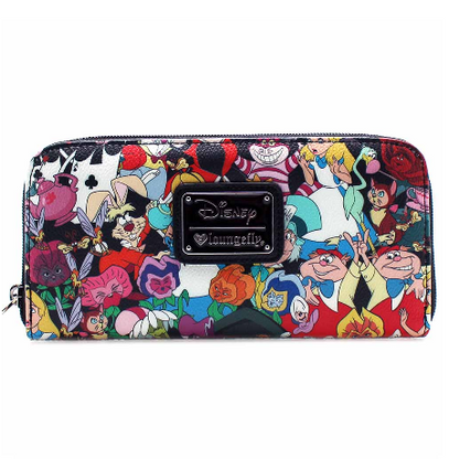Loungefly X Disney Alice In Wonderland Characters Pebble Wallet - Cobalt Heights